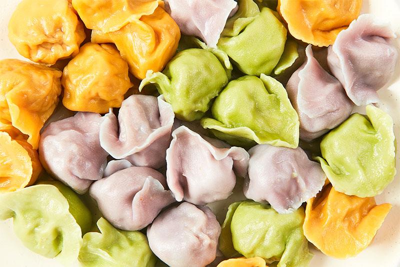 蔬菜汁饺子